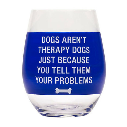 Therapy Dogs Wine Glass