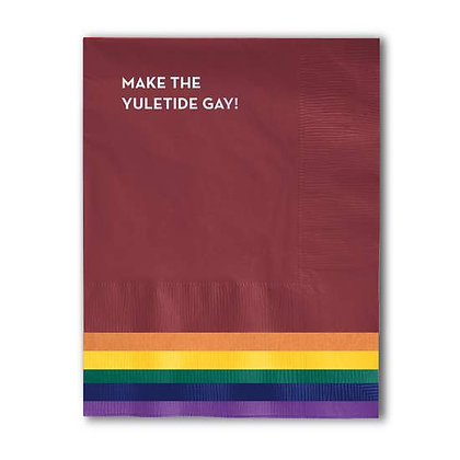 Make the Yuletide Gay Napkins