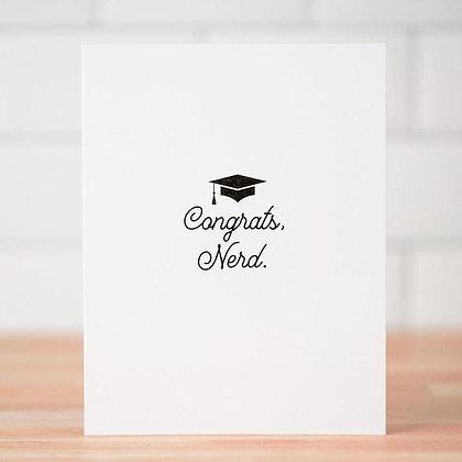 Congrats, Nerd Graduation Card