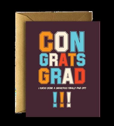 Smartass Grad Card