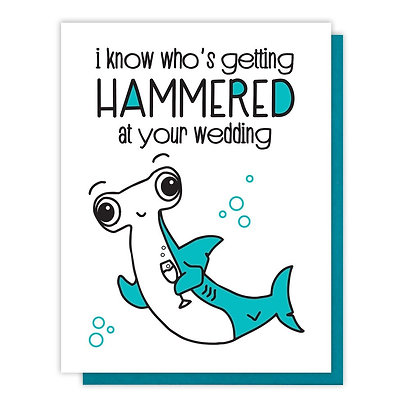 Hammered At Your Wedding Card
