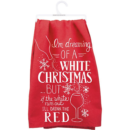 Dreaming of a White Christmas Towel