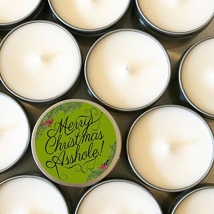 Merry Christmas Asshole! Candle