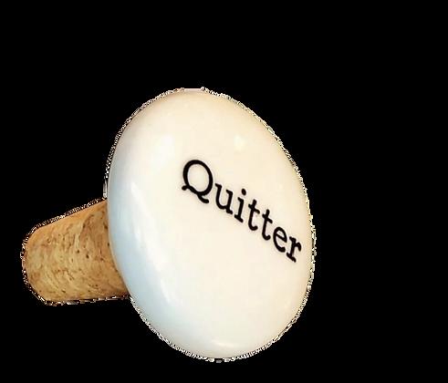 Quitter Bottle Stopper