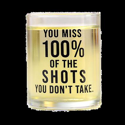 100% Shot Glass
