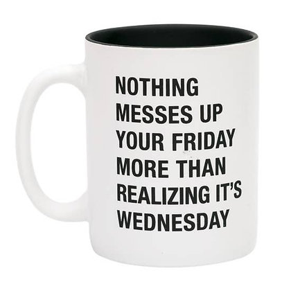 Realizing it's Wednesday Mug