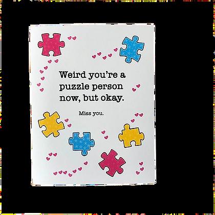 Puzzle Person Friendship Card