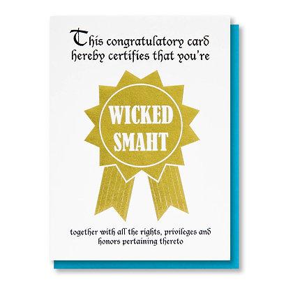 Wicked Smaht Grad Card
