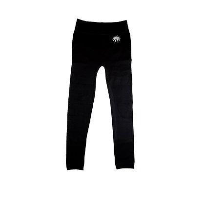 White Widow on Black Fleece lined leggings