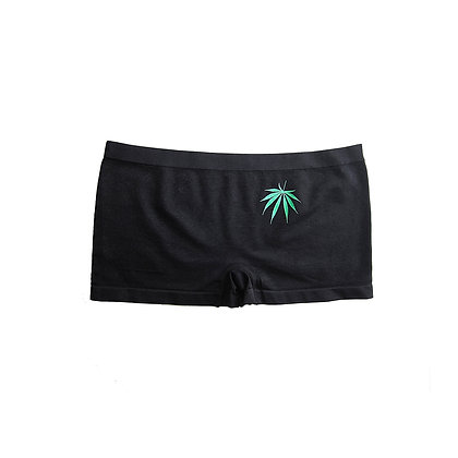 Kush Green on Black Girl Shorts