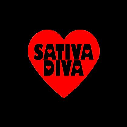 Sativa Diva Heart Sticker