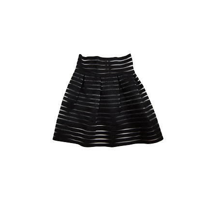 Sativa Diva™ High Waisted Mesh Panel Mini Skirt