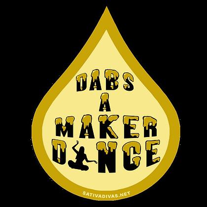 Dabs A Maker Dance  Sticker