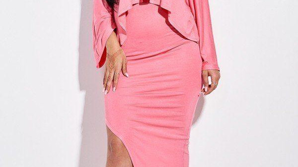 Blissfully Chic Top & Maxi Skirt Set (Apricot)