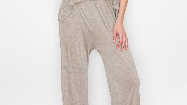 Layered Jumpsuit - Khaki