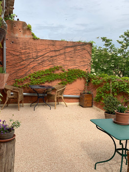 Terrasse privée.