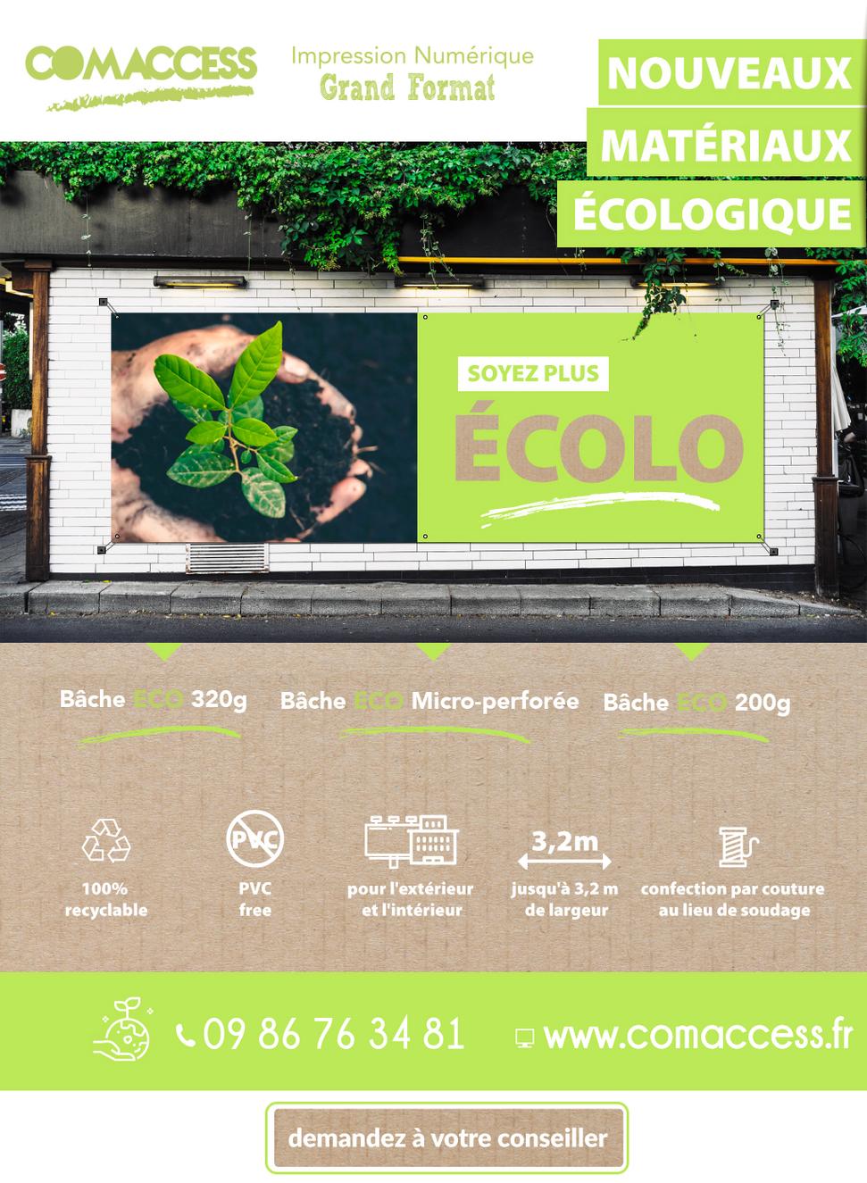 devenez ecolo bâche ecologique