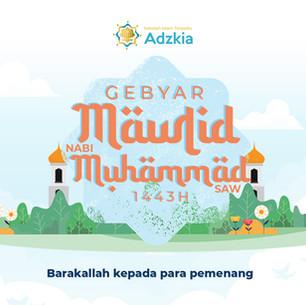 Pengumuman Pemenang Lomba Gebyar Maulid Nabi Muhammad 1443H/2021 M - SIT Adzkia Sukabumi
