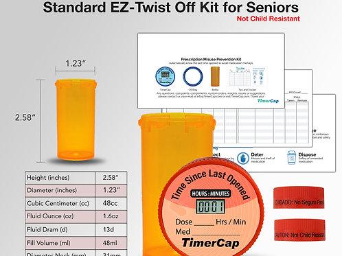 EZ- Twist Off Standard Prescription Misuse Prevention Kits (1,000)