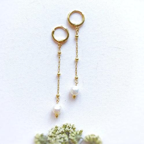 Orecchini pendenti con Perle di Fiume coltivate
