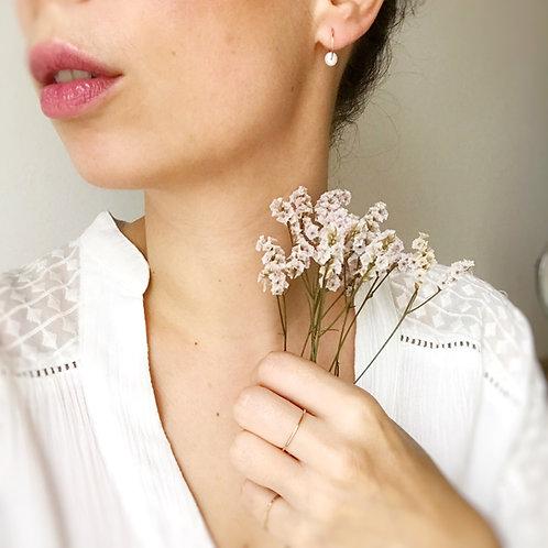 Micro orecchini con Perle di Fiume coltivate