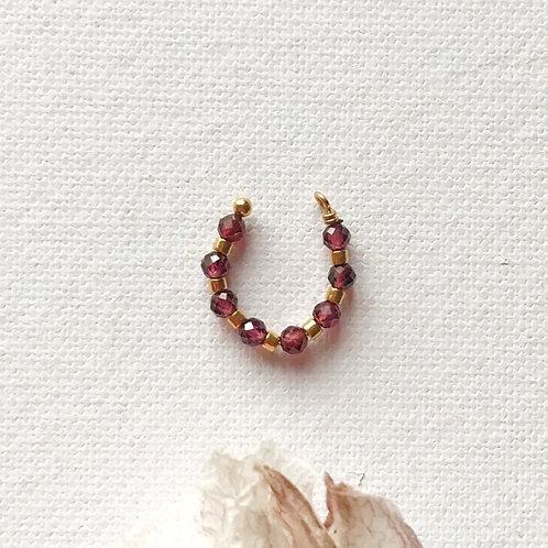 Ear Cuff - Granato Rosso