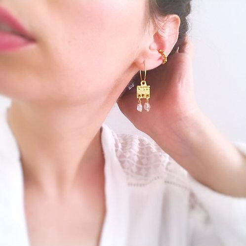 Ear Cuff - Perle dorate