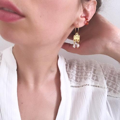 Ear Cuff - Corniola