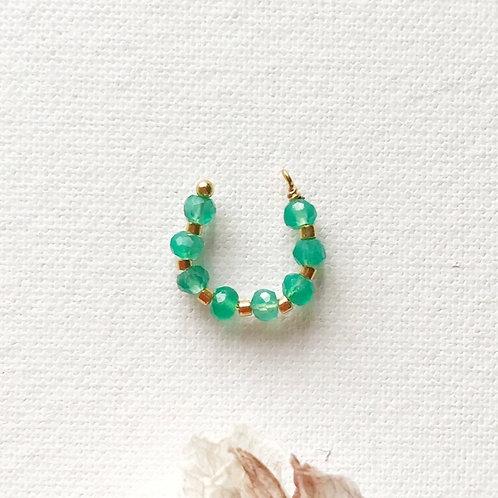 Ear Cuff - Agata Verde
