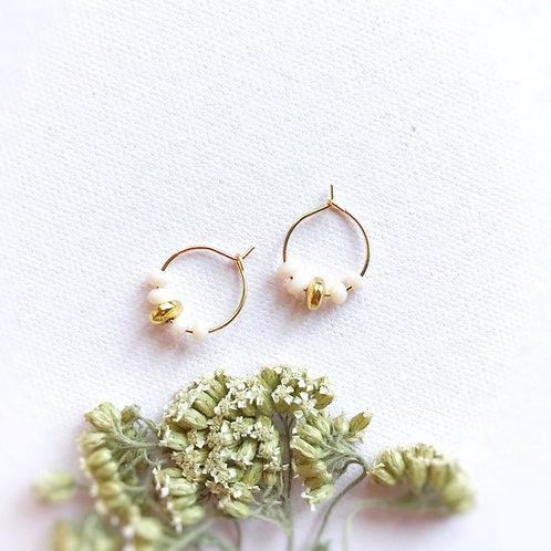 Micro orecchini con cristalli Cipria
