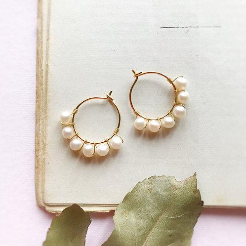 Anelle con Perle di Fiume coltivate