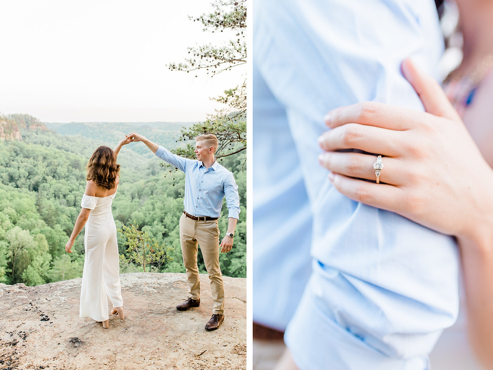 Red River Gorge Fall Engagement Session Lexington Photographer Created with Grace Photography