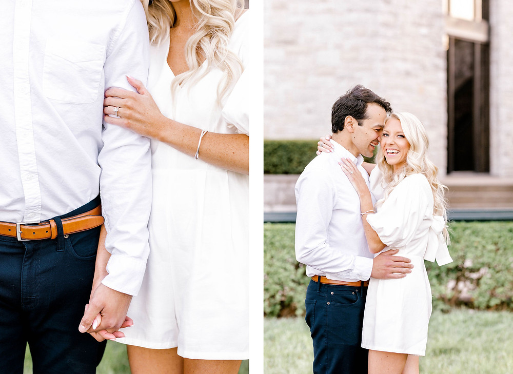 Spring engagement session arboretum keeneland created with grace photography