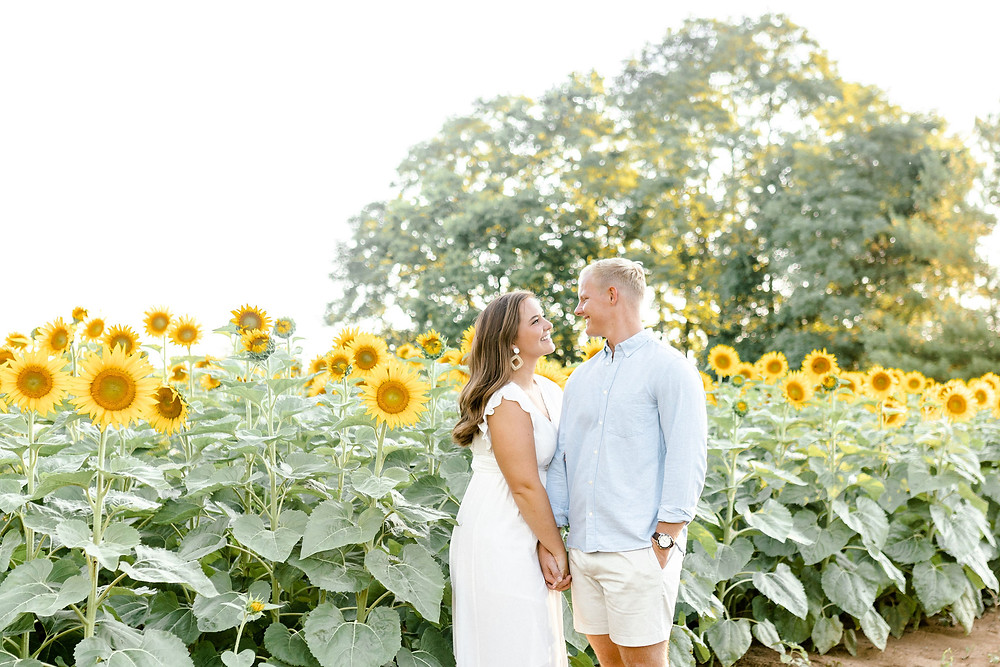 Created with Grace Photography summer sunflower field portrait session Lexington Kentucky