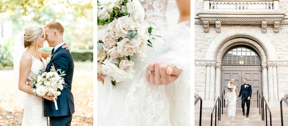 FALL WEDDING AT LIMESTONE HALL | Danielle & Brian