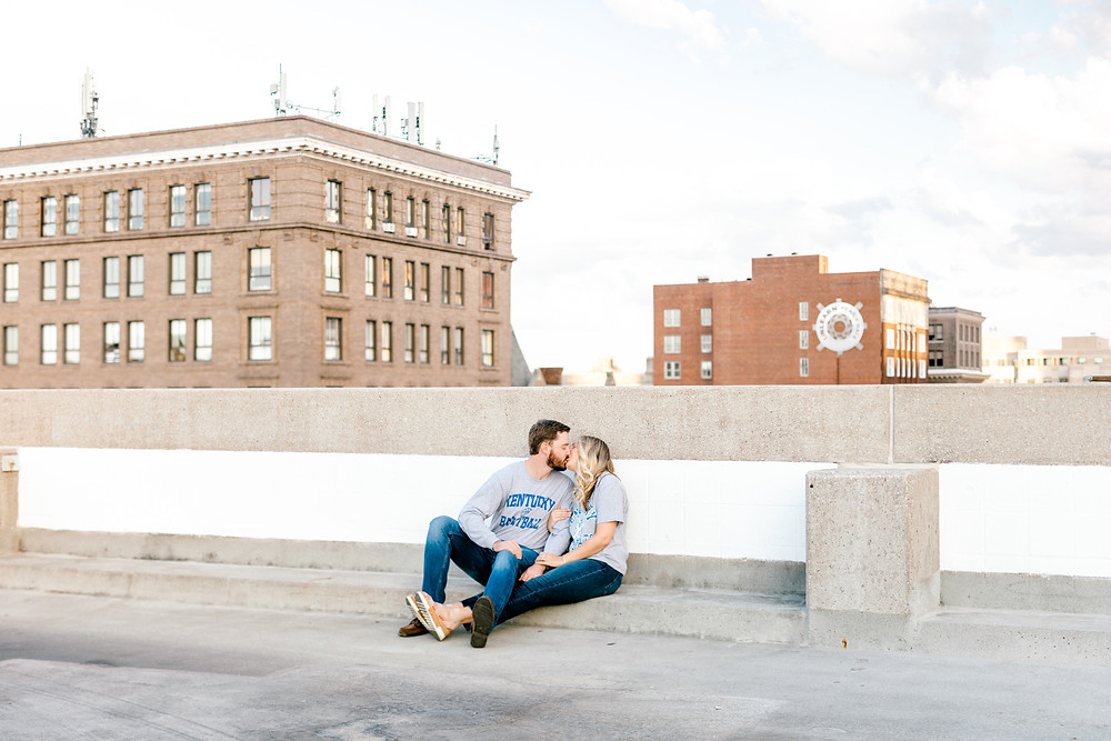 Keeneland Downtown Lexington Engagement Session Created with Grace Photography