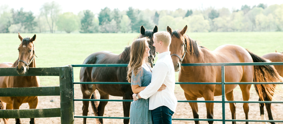 SPRING ENGAGEMENT SESSION IN LEXINGTON | Josephine & Kevin