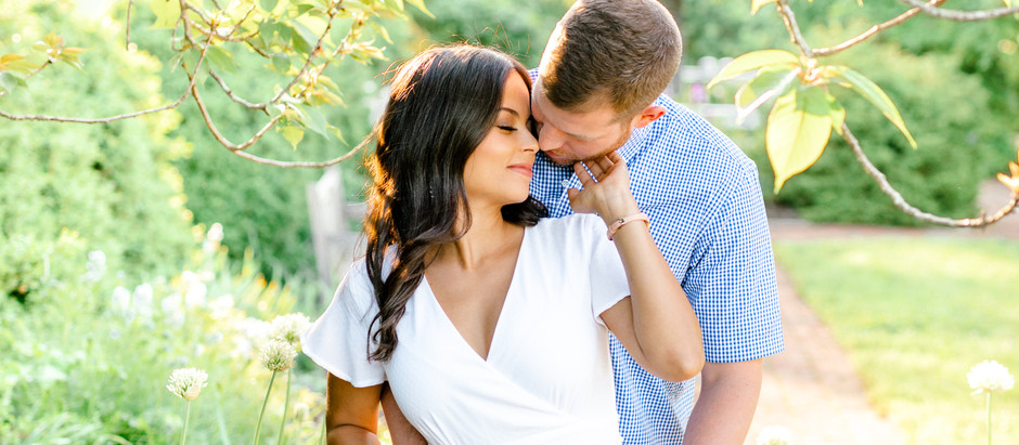 SPRING ENGAGEMENT SESSION AT THE ARBORETUM AND DOWNTOWN LEXINGTON | Kami & Gregory