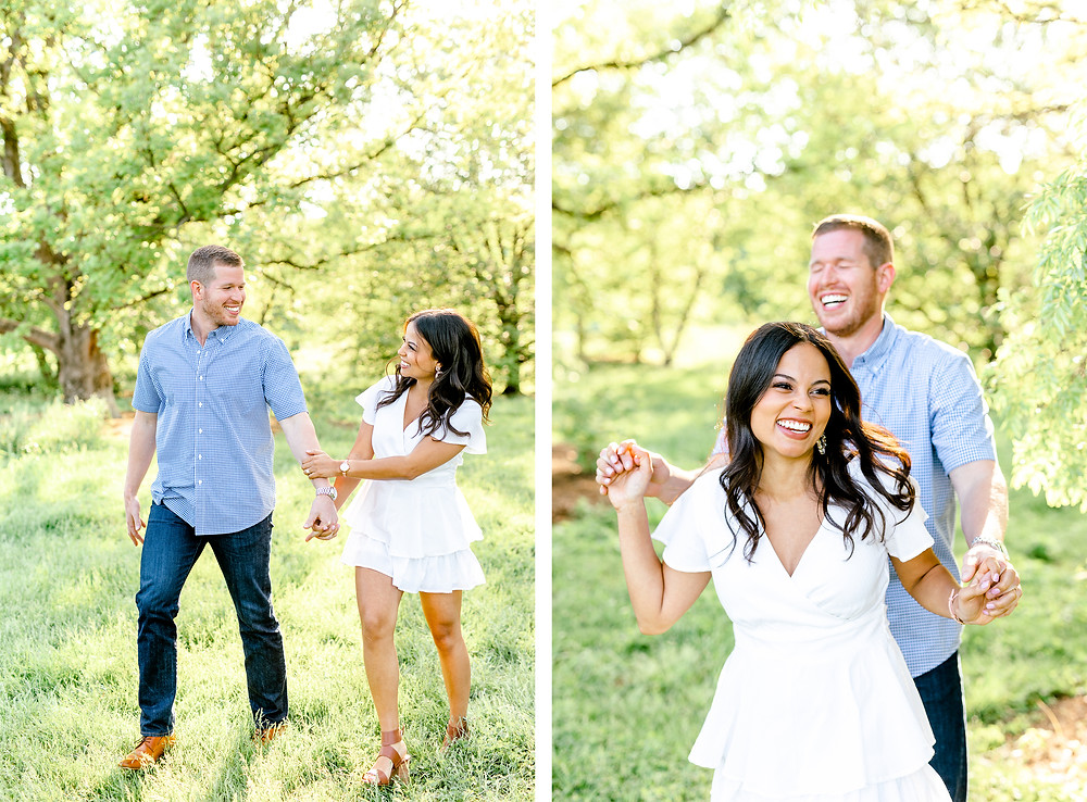 Created with Grace Photography Lexington Kentucky Arboretum Engagement Session