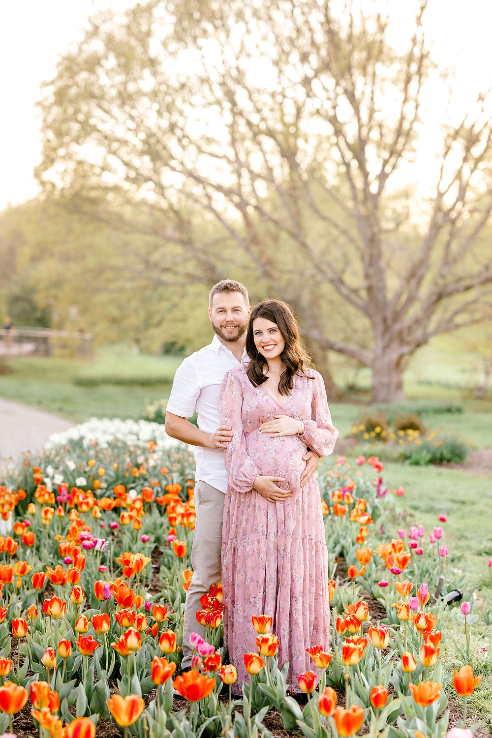 Spring maternity session arboretum created with grace photography
