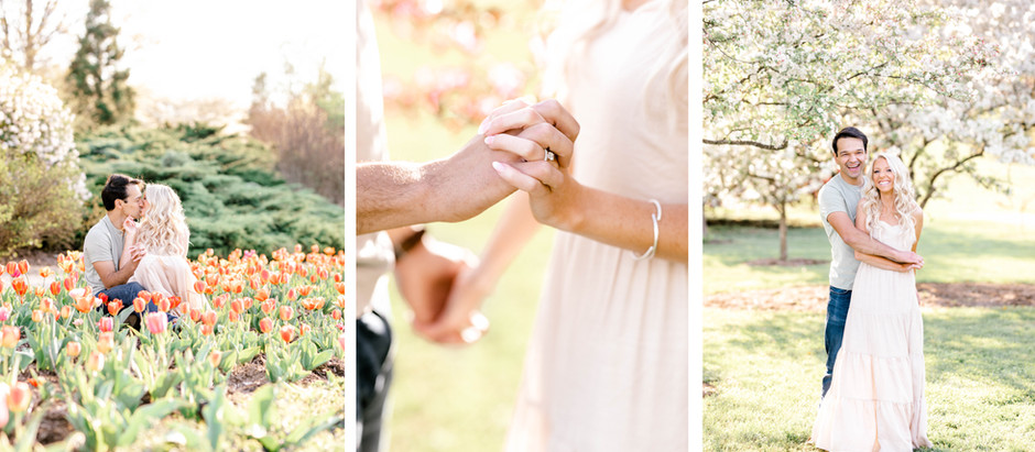 SPRING ENGAGEMENT SESSION AT THE ARBORETUM & KEENELAND | Bailey & Conner