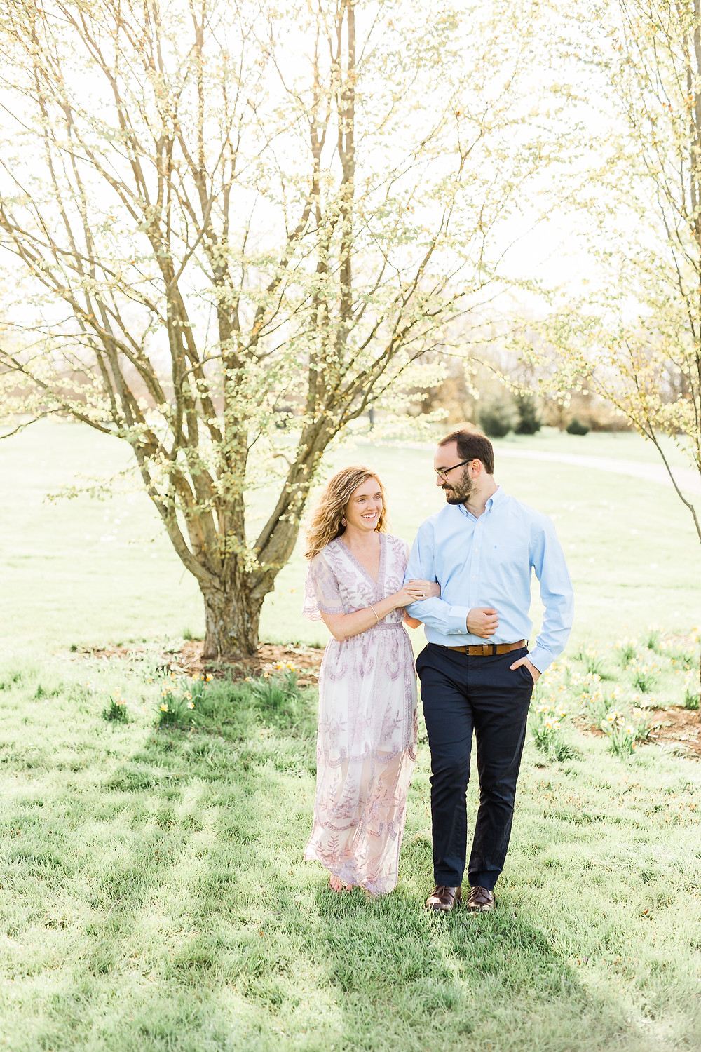 Spring Engagement Session Lexington Photographer Created with Grace Photography
