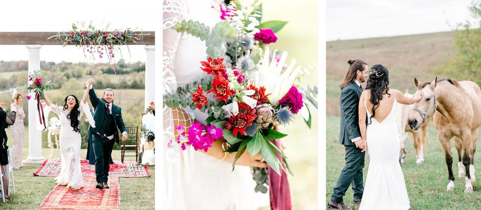FALL WEDDING AT BLUEGRASS WEDDING BARN | Fiona & Clint