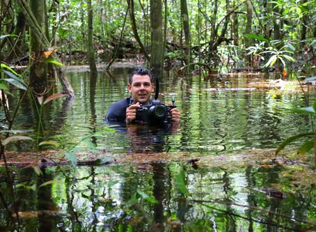 João Paulo exibe fotos da reserva Cristalino no 'Telão do Domingão'
