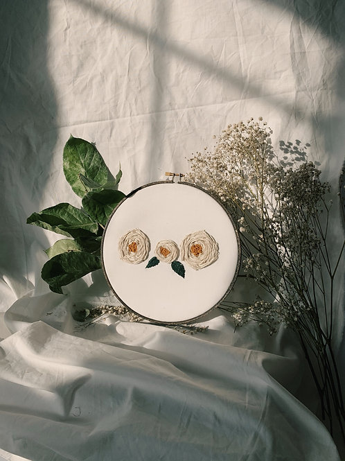 White Roses Embroidery