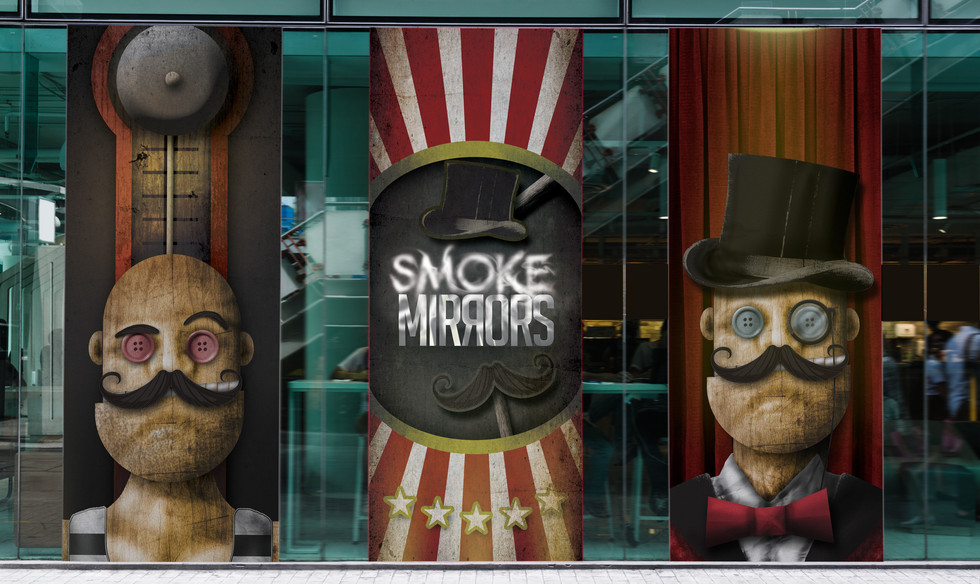 Smoke & Mirrors Event Banners Design