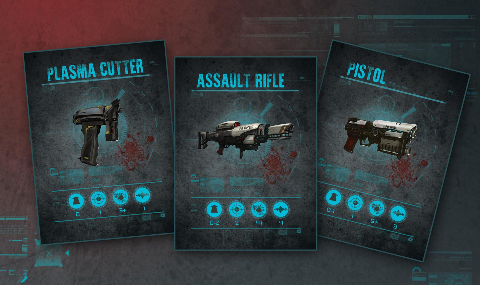 Endure The Stars Weapons Card Deck Design