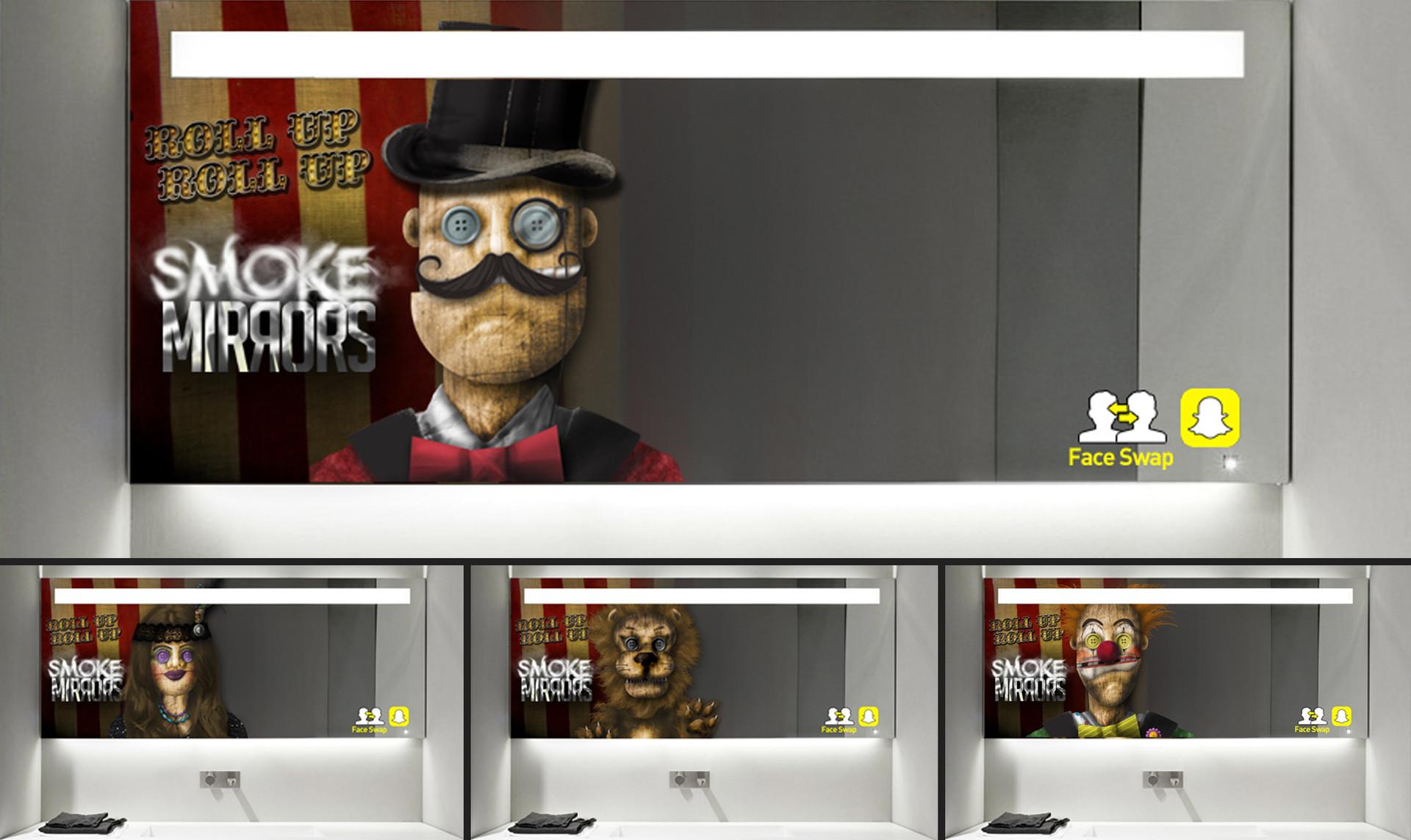 Smoke & Mirrors Face Swap Marketing