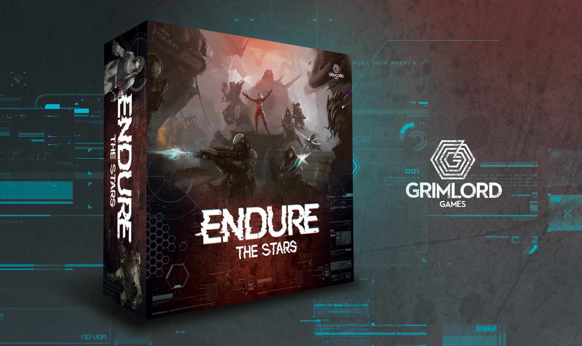 Endure The Stars Board Game Box Design