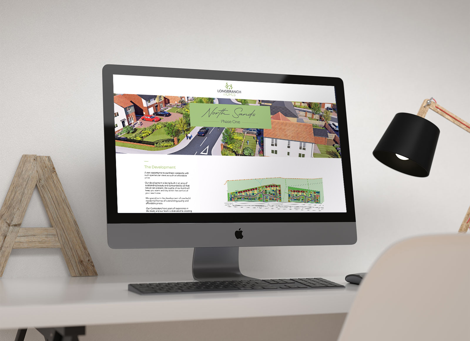 Longbranch homes Website Design